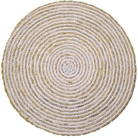 Maytime Pure Cotton Round Placemat - Simply White