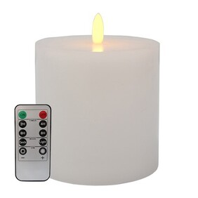 Le Forge LED Battery Remote Candle - White 10x10cm