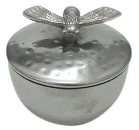 French Country Bee Metal Trinket Box