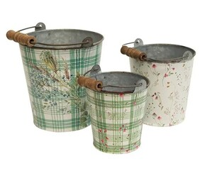French Country Handle Flower Bucket