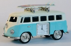 Collectable VW Combi Surf Boards Clock - Light Blue