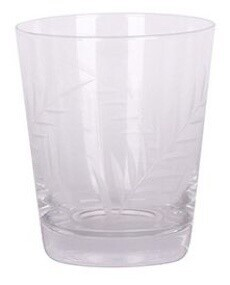 French Country Leaf Cut Tumbler Glass - Short