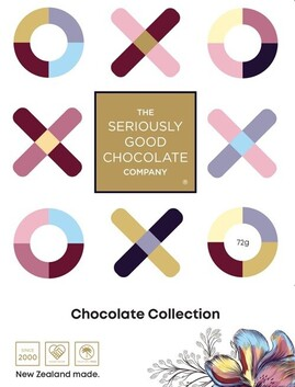 Seriously Good Chocolate XO Love Letters Chocolates - 4 Piece
