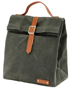 Tempa Buckle Insulated Lunch Bag - Olive Green