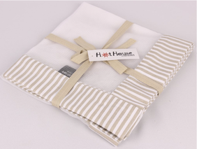 Hot House Stripe Food Cover - Linen